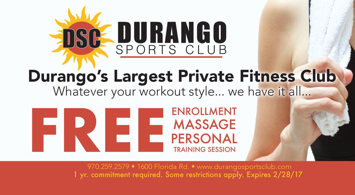 Durango Sports Club Coupon