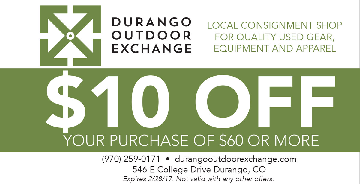 Durango Outdoor Exchange Coupon