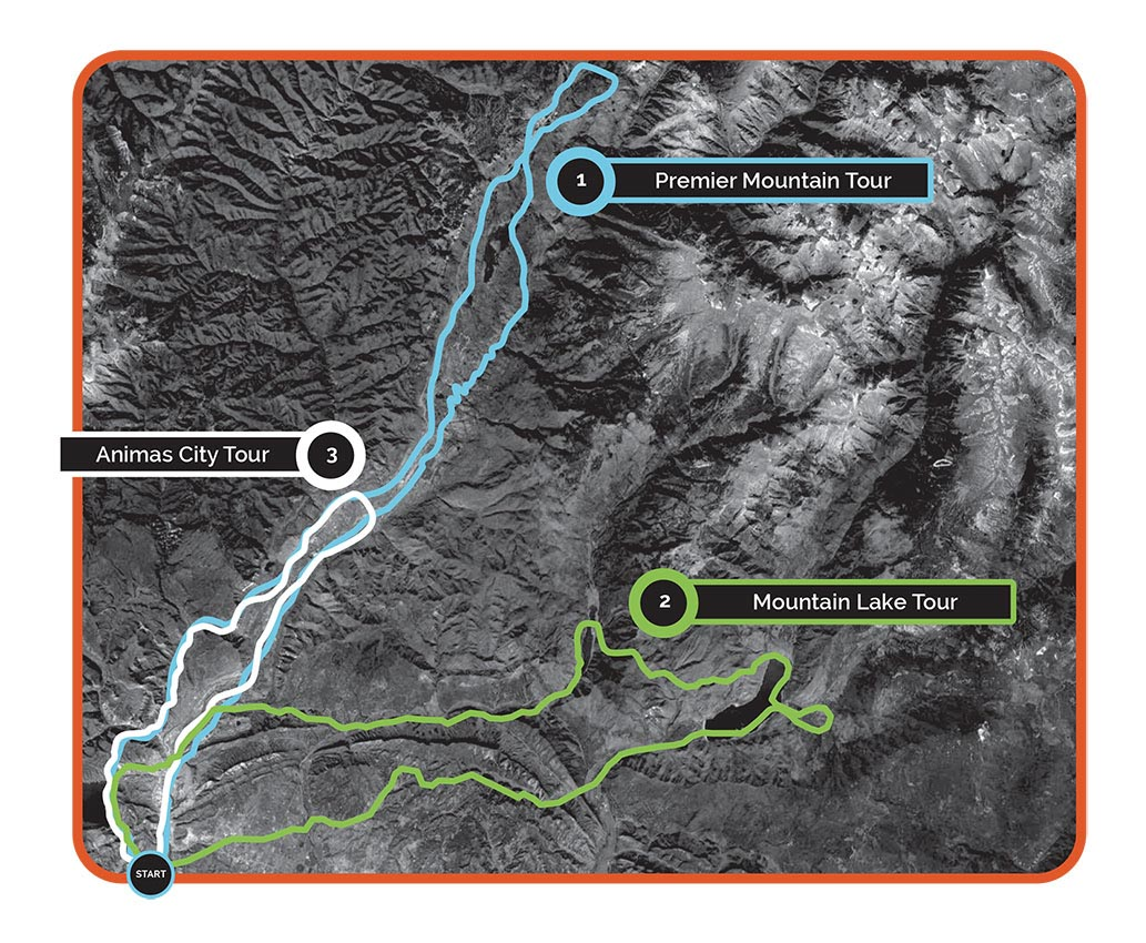 Alpine Heli Tours Route Map