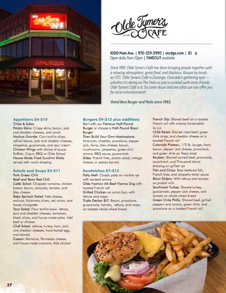 Olde Tymers Café - Durango Restaurants