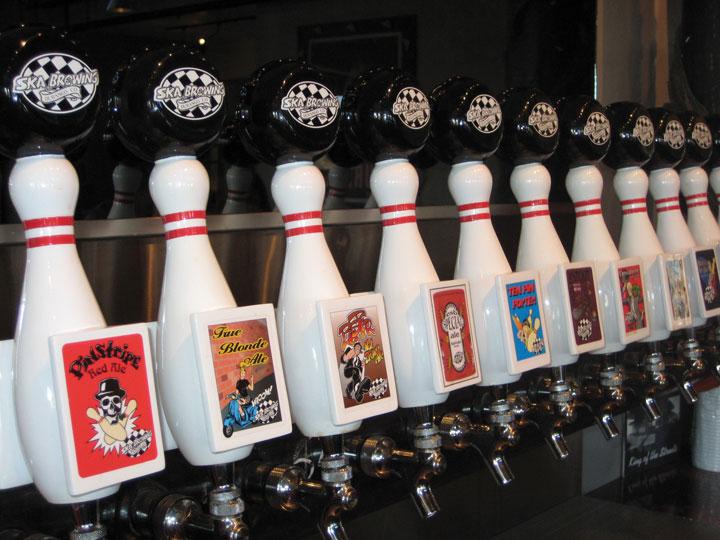 Ska Brewing Tasting Room Taps