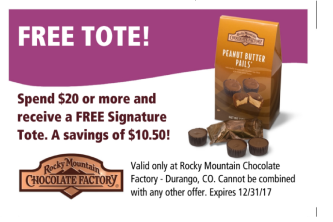Special offer for Durango location Rocky Mountain Chocolate