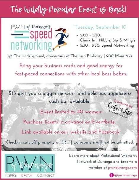 PWN Announces the Return of Speed Networking for Professional Women