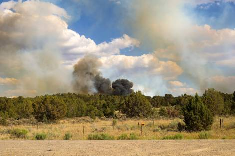 Six Shooter Fire breaks out on Southern Indian Reservation
