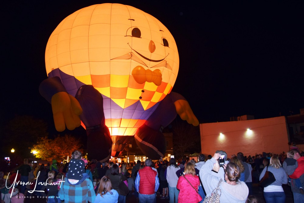 Glowing Balloon during the Durango Balloon Glow