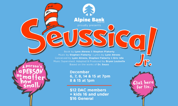 Seussical Poster from Durango Arts Center