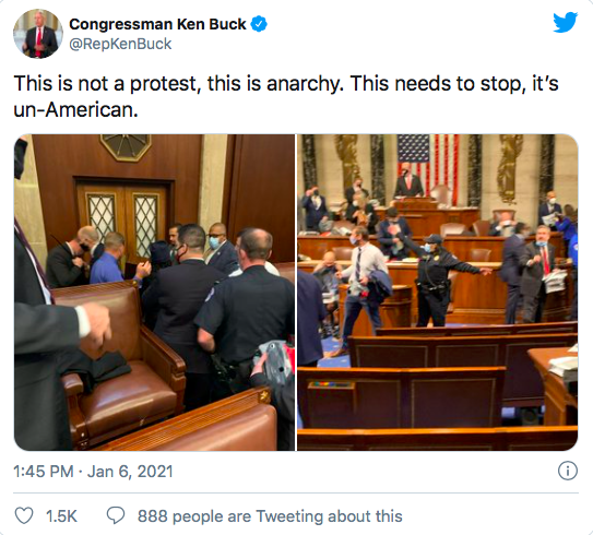 Congressman Ken Buck Twitter Post
