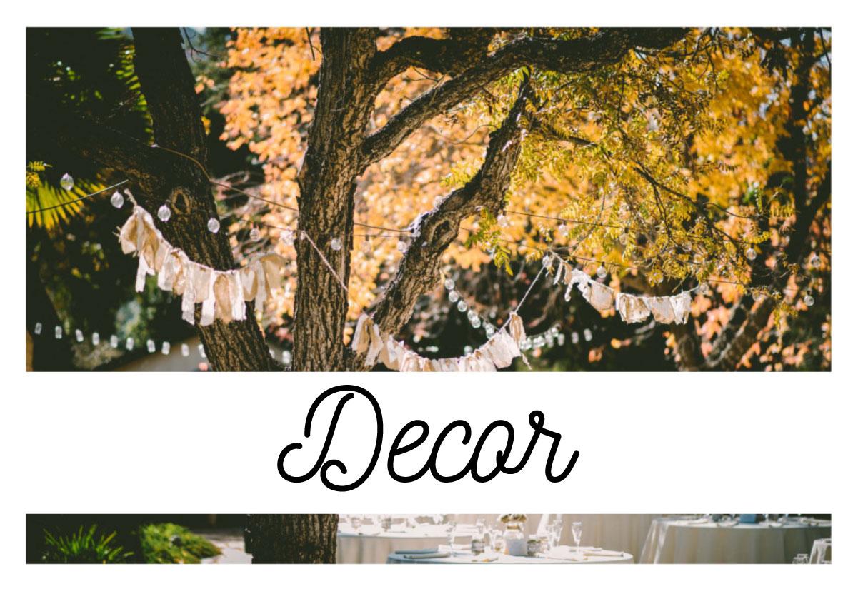 wedding decorations and wedding centerpieces in durango, co