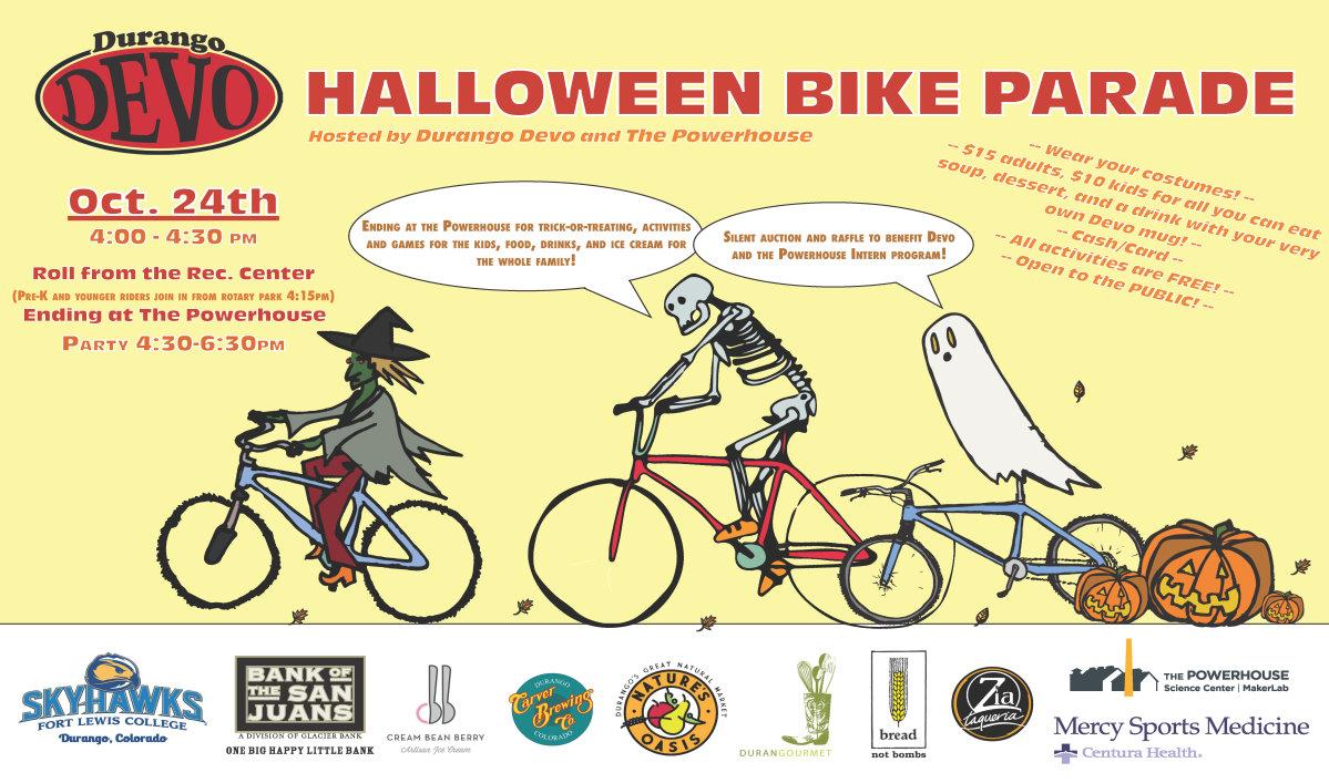 Halloween Bike Parade Durango Devo