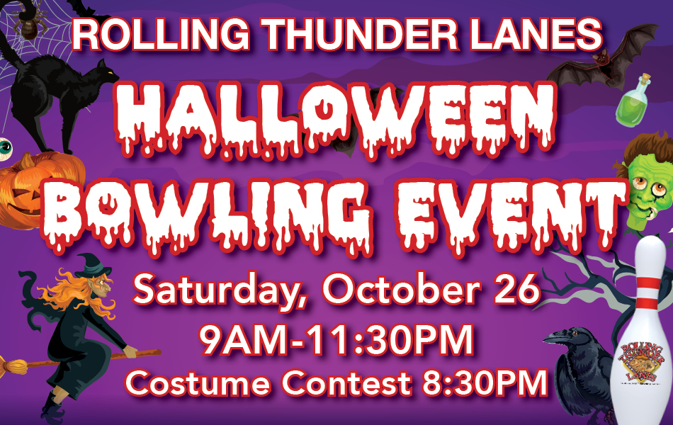Halloween Bowling Event at Rolling Thunder Lanes