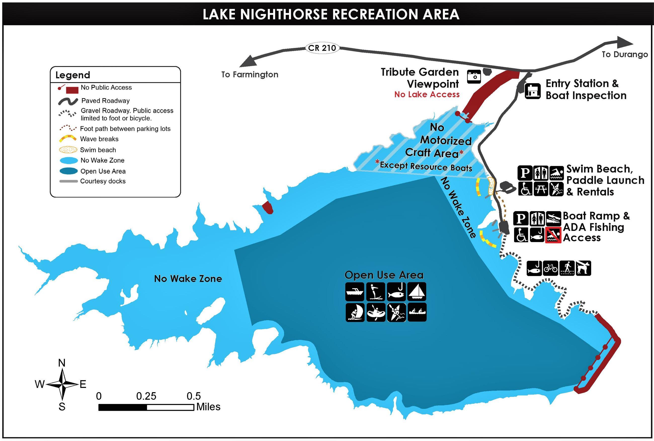 Lake Nighthorse Map